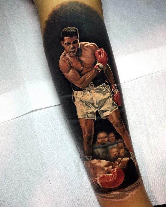 Guys Hyper Realistic Inner Forearm 3d Muhammad Ali Tattoos