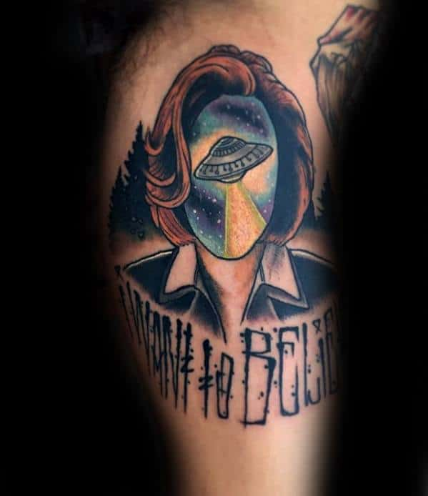 Guys I Want To Believe Tattoo Deisgns X Files Theme Inner Arm Bicep