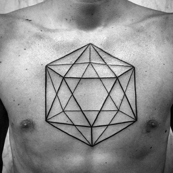 Guys Icosahedron Tattoos