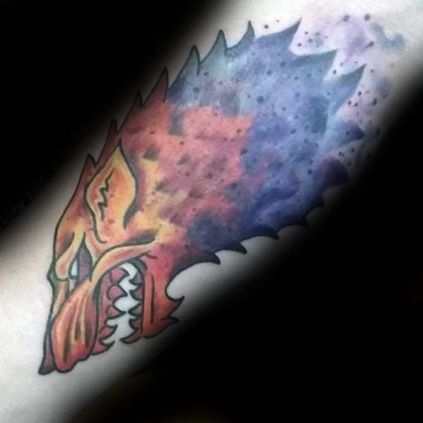Guys Inner Arm Watercolor Game Of Thrones Tattoo Design Idea Inspiration