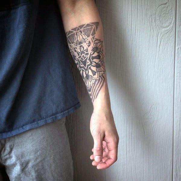 Flower Tattoo On The Inner Forearm Tattoo Artist Doy: 100 Peony Tattoo Designs For Men