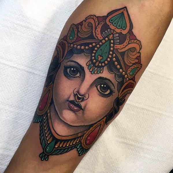 40 Krishna Tattoo Designs For Men Hinduism Ink Ideas