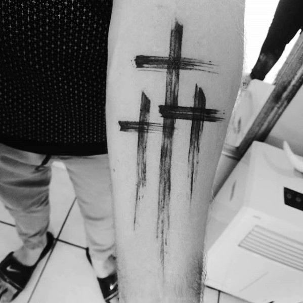40 simple christian tattoos for men faith design ideas. Black Bedroom Furniture Sets. Home Design Ideas