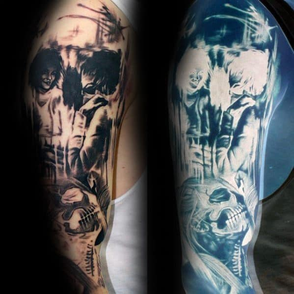 Guys Inverted Tattoo Designs