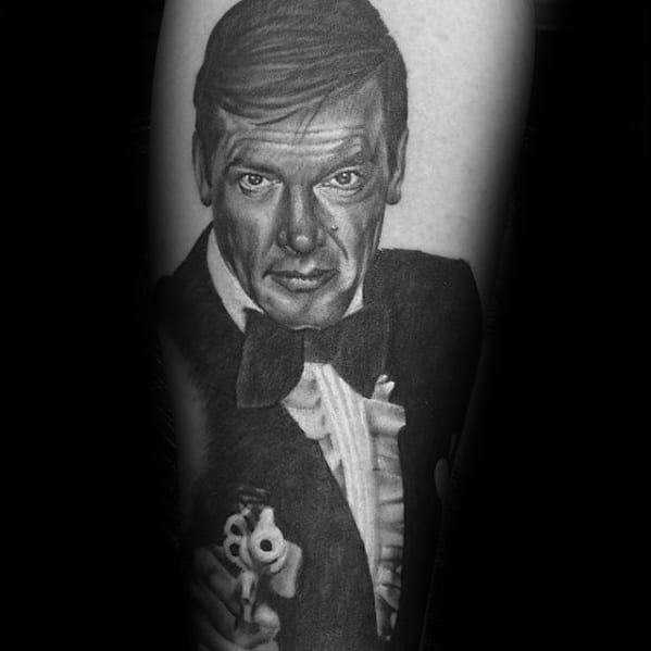 Guys James Bond Tattoo Design Ideas On Arm