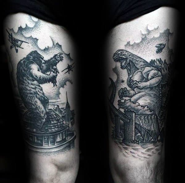 Guys King Kong Tattoo Design Ideas