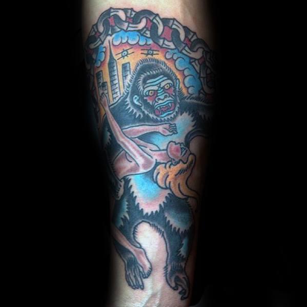 Guys King Kong Tattoos