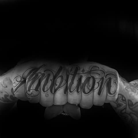 30 Ambition Tattoo Design Ideas For Men - Word Ink Ideas