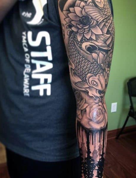 Guy's Koi Fish Tattoo Ideas