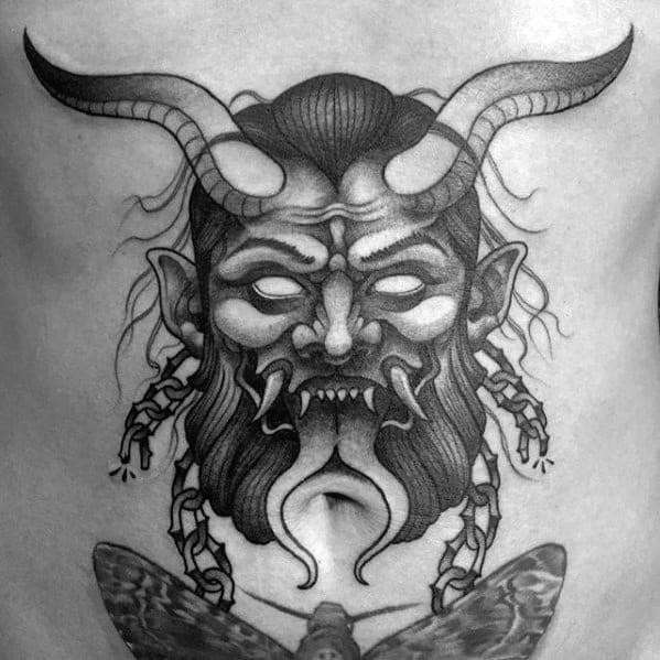 Guys Krampus Tattoo Design Ideas