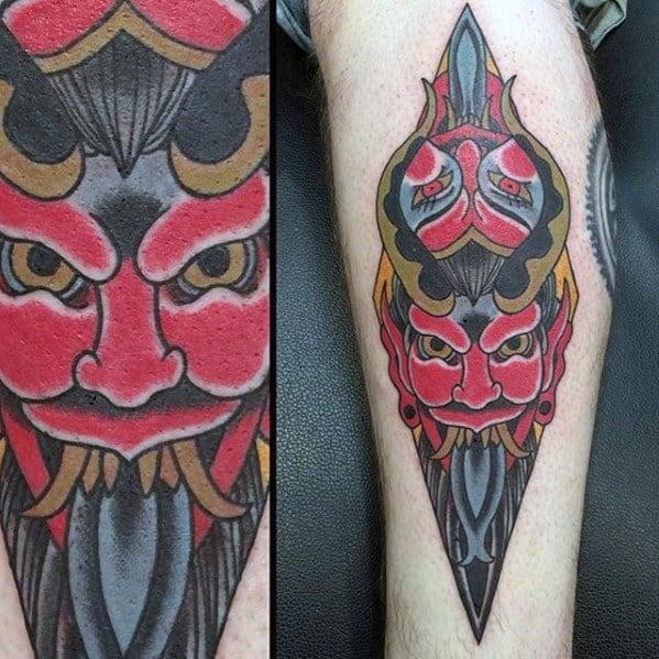 Guys Krampus Tattoo Designs
