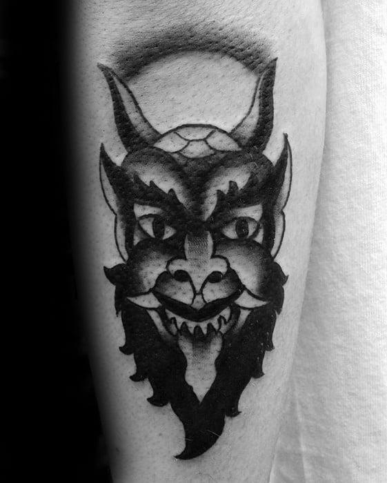 Guys Krampus Tattoos