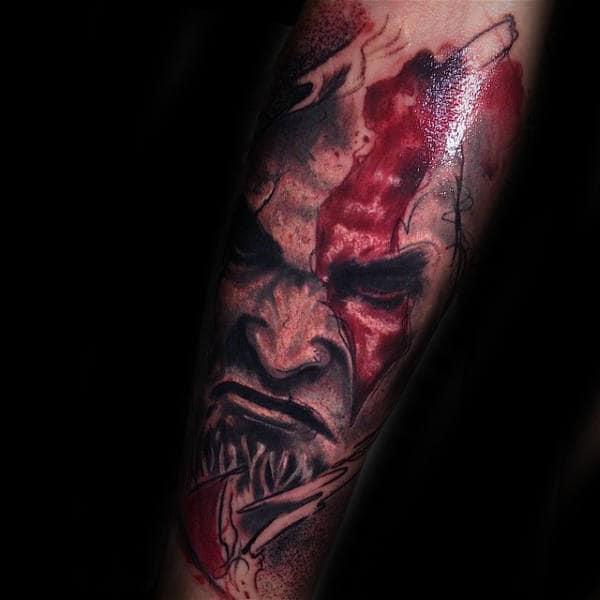 30 Kratos Tattoo Designs For Men God Of War Ink Ideas