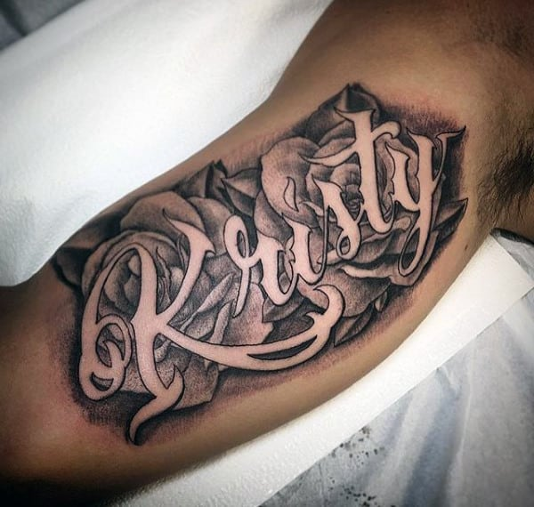 Tattoo Designs In Name: 60 Name Tattoos For Men