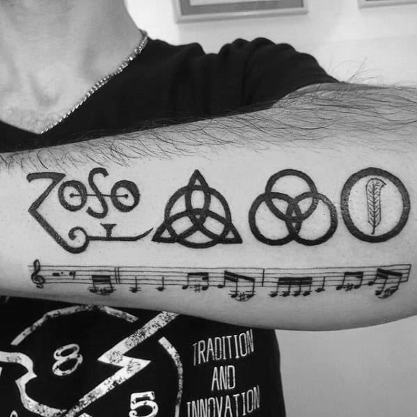 60 Led Zeppelin Tattoos For Men English Rock Band Ink Ideas