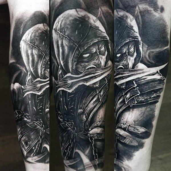 Guys Leg Gamer Tattoo