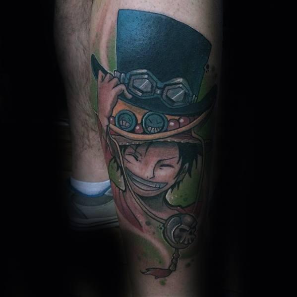 Guys Leg Sleeve One Piece Tattoo