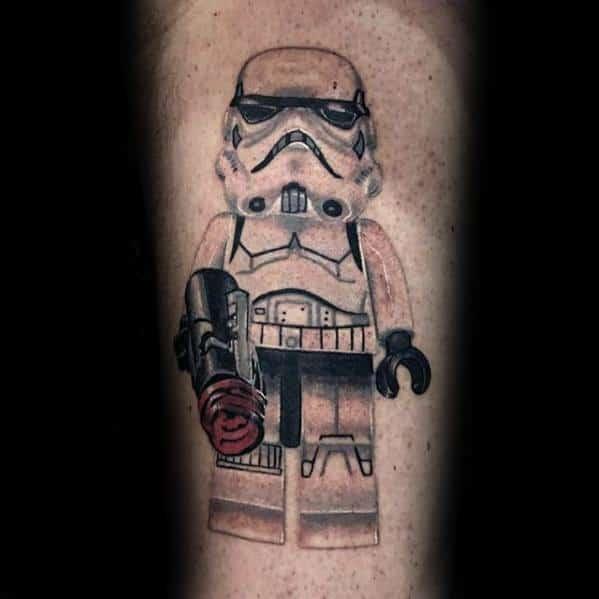 Guys Lego Tattoo Design Ideas