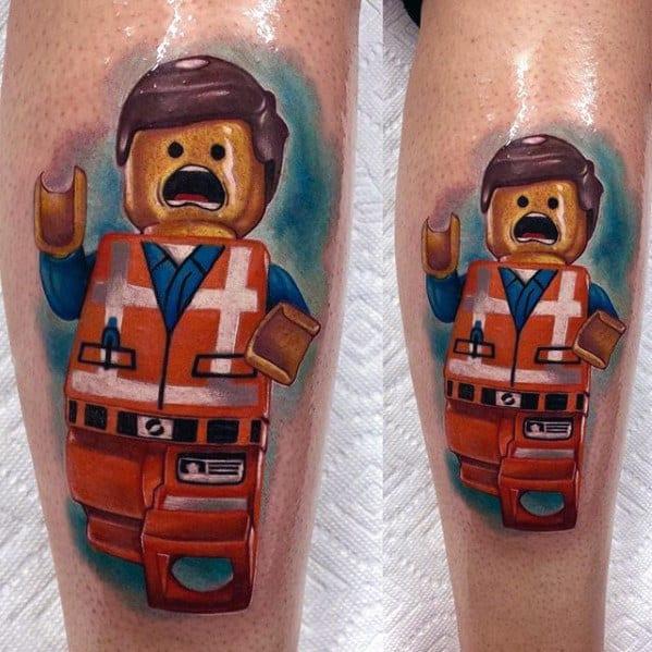 Guys Lego Tattoo Designs