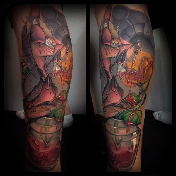 Guys Legs Incredible New School Tattoo