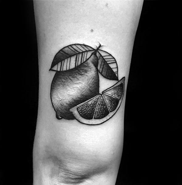 Guys Lemon Tattoo Designs