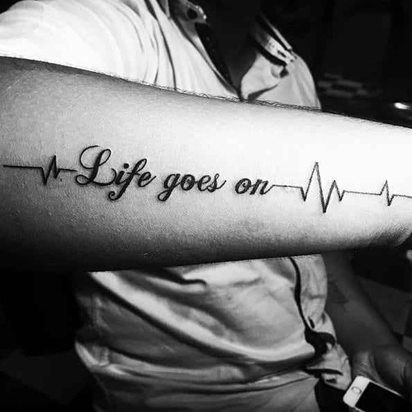 40 Life Goes On Tattoo Designs For Men