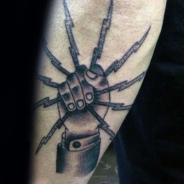 Guys Lineman Ibew Outer Forearm Tattos