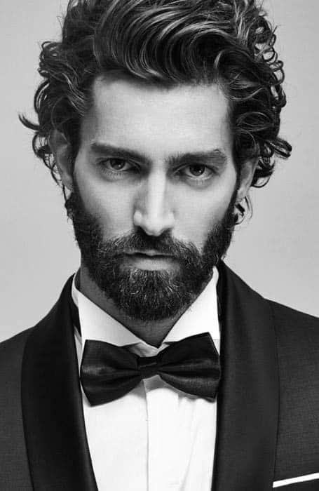 Excellent 50 Long Curly Hairstyles For Men Manly Tangled Up Cuts Hairstyles For Women Draintrainus