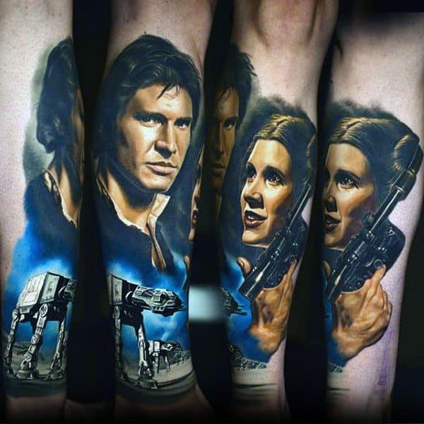Guys Lower Legs Pretty Real Star Wars Tattoo