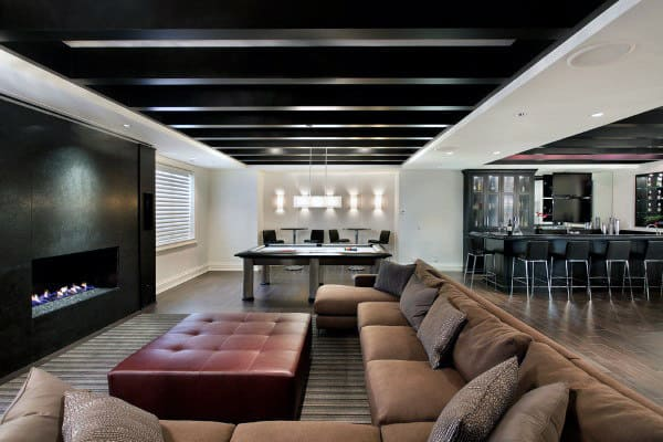 Guys Man Cave Luxury Basement