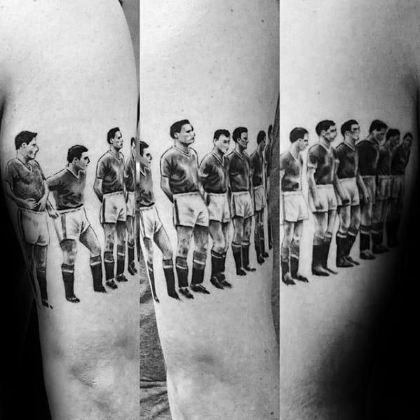 Guys Manchester United Soccer Team Armband Tattoo Deisgns
