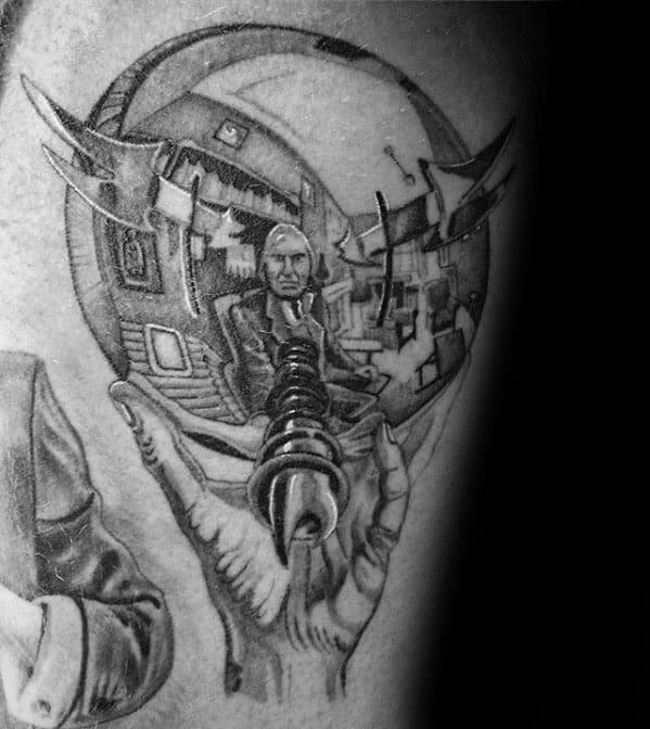 Guys Mc Escher Tattoo Design Idea Inspiration