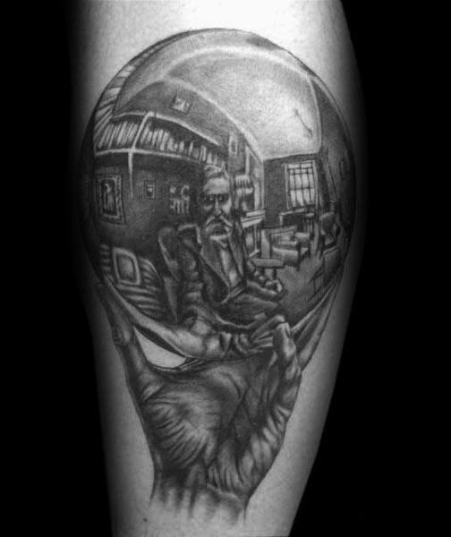 Guys Mc Escher Tattoo Designs