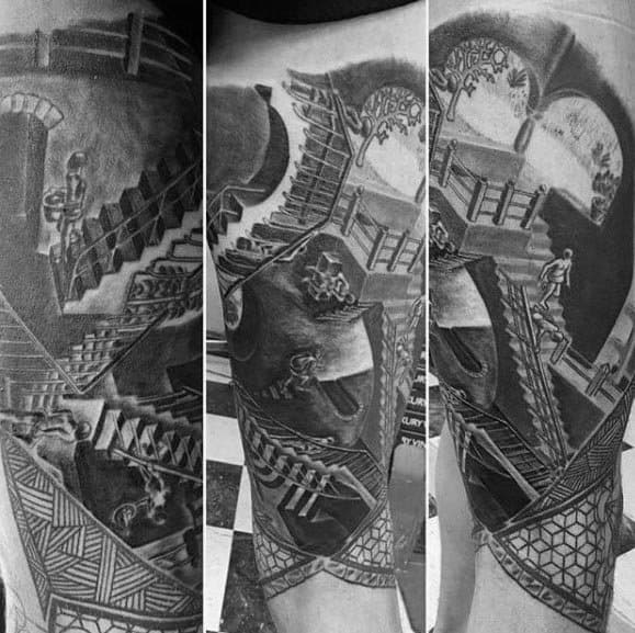 Guys Mc Escher Tattoos