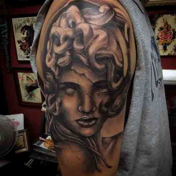 Guys Medusa Chthonic Monster Tattoo