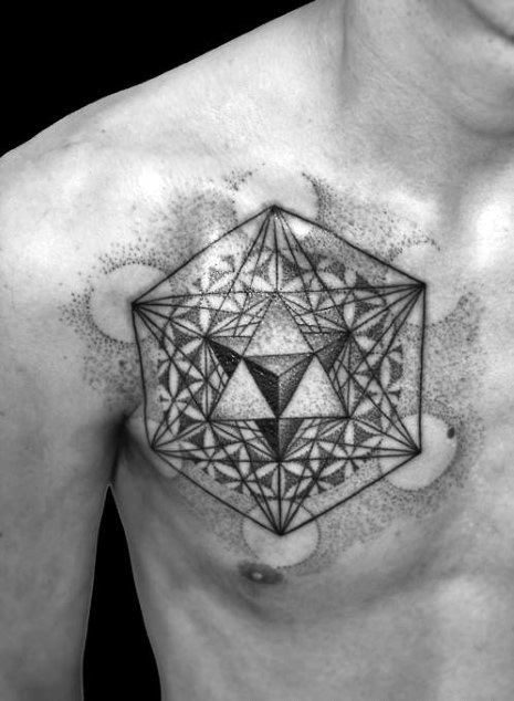 Guys Metatrons Cube Tattoo Design Ideas