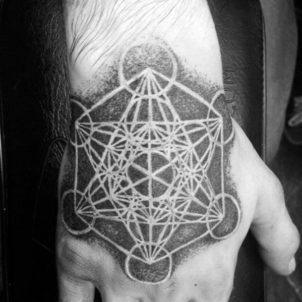 Guys Metatrons Cube Tattoo Designs