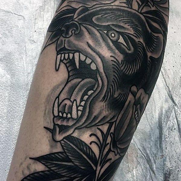 Guy's Mokey The Bear Tattoo