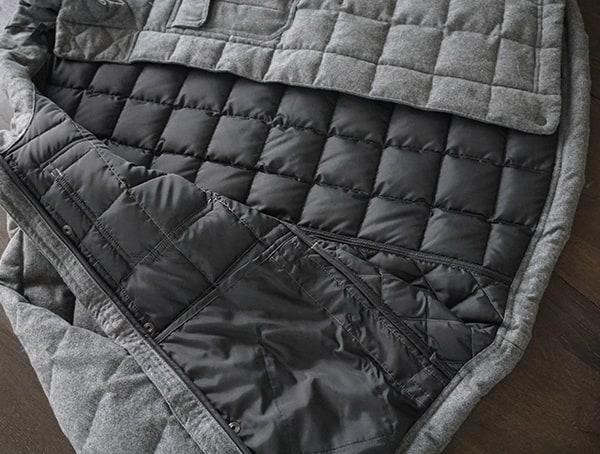 Guys Nau Utility Wool Down Jacket Interior