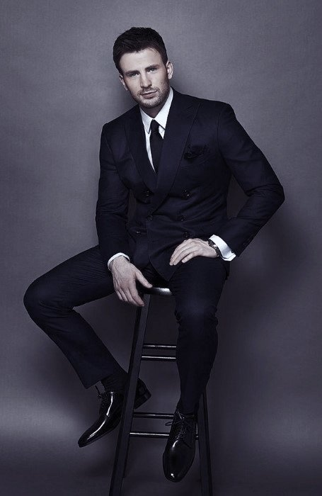 Guys Navy Blue Suit Black Shoes Style Fashion Inspiration
