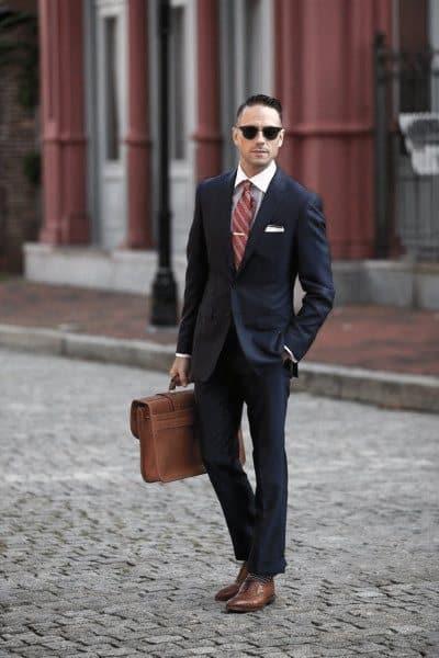 Guys Navy Blue Suit Style Fashion Inspiration