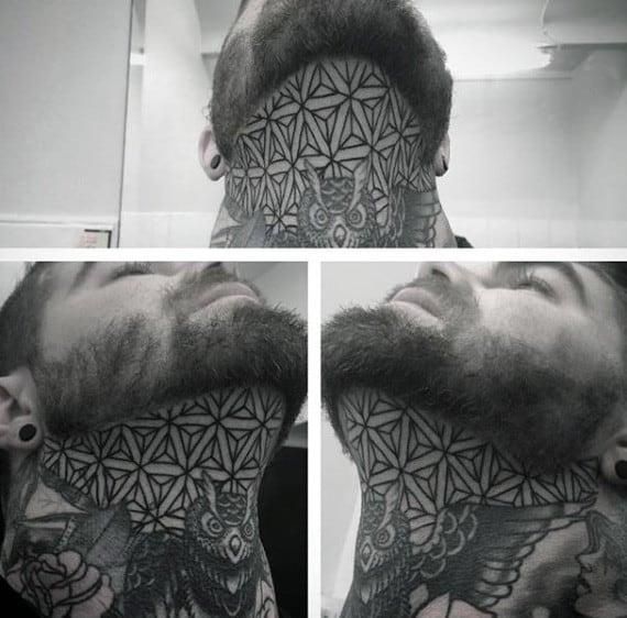 Guys Neck Pattern Tattoo