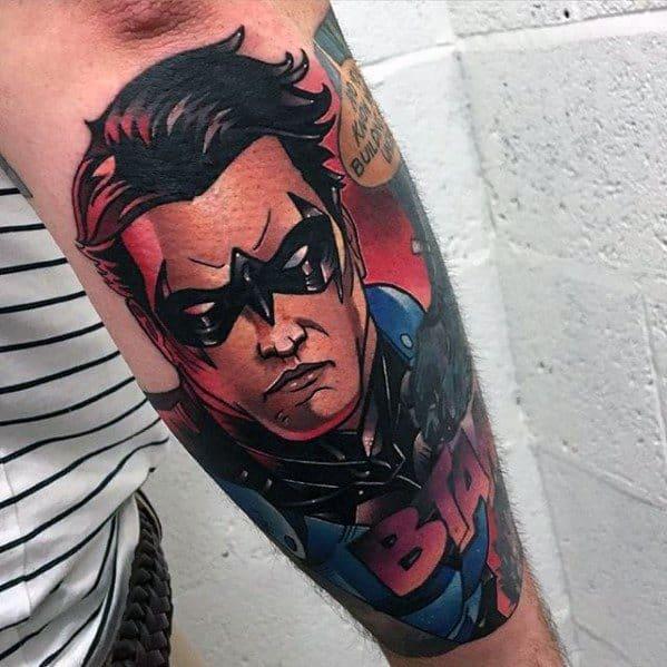 Guys Nightwing Tattoo Design Ideas