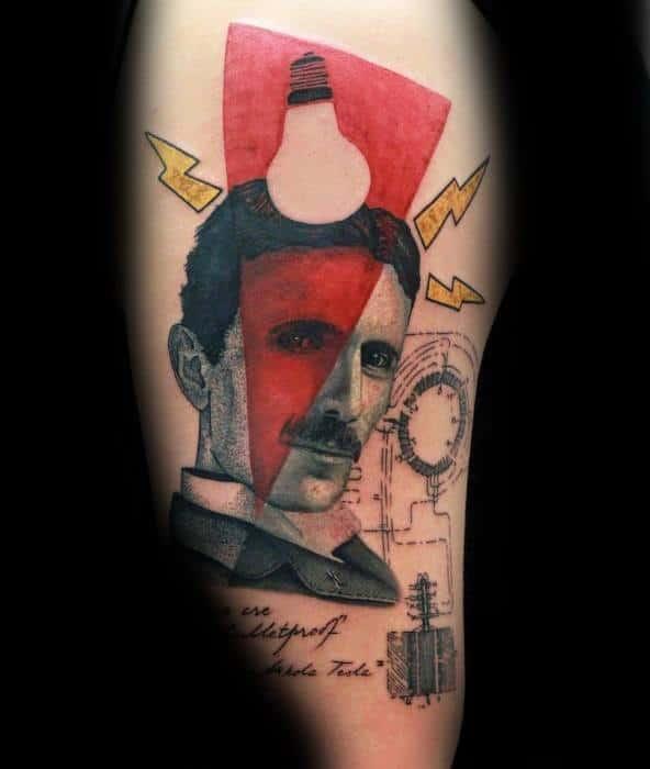 Guys Nikola Tesla Tattoos