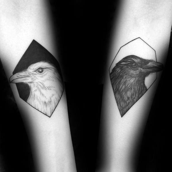Guys Odins Ravens Huginn And Muninn Tattoo Design Ideas