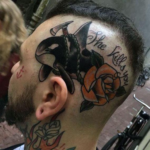 Guys Orca Tattoos On Hand