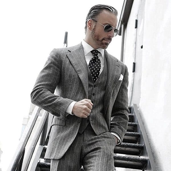 Guys Outfits Grey Suit Ideas