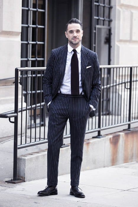 Guys Outfits Navy Blue Suit Black Shoes Ideas