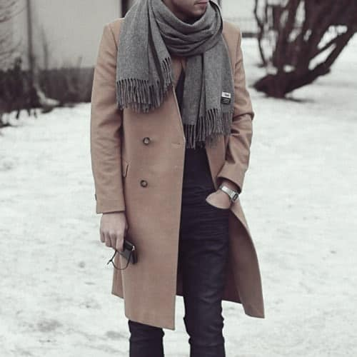 Guys Outfits Winter Outfits Ideas With Grey Scarf