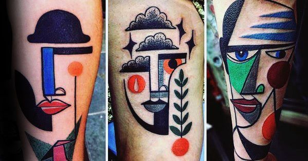 Guys Pablo Picasso Tattoos